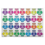 Cute Rainbow Owl Pattern Placemats