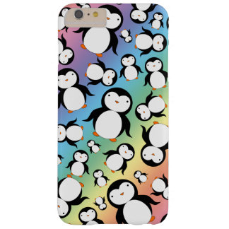 Cute rainbow penguin pattern barely there iPhone 6 plus case