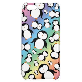 Cute rainbow penguin pattern iPhone 5C case