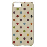 cute rainbow polka dot pattern case for iPhone 5C