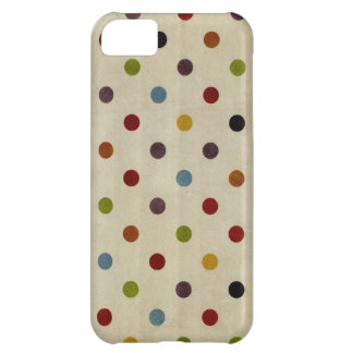 cute rainbow polka dot pattern cover for iPhone 5C