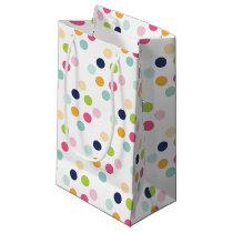 Cute Rainbow Polka Dots Birthday Confetti Pattern Small Gift Bag