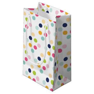 Cute Rainbow Polka Dots Pattern Small Gift Bag