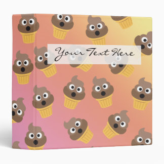 Cute Rainbow Poop Emoji Ice Cream Cone Pattern Binder