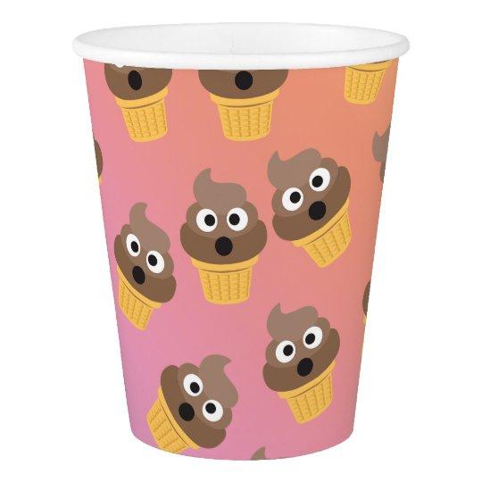 Cute Rainbow Poop Emoji Ice Cream Cone Pattern Paper Cup Zazzlecom