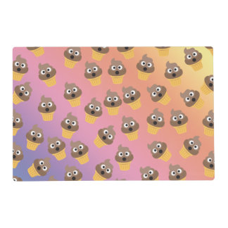 Cute Rainbow Poop Emoji Ice Cream Cone Pattern Placemat