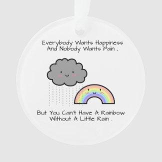 Cute Rainbow Rain Cloud Happiness Quote Room Decor