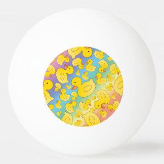 Cute rainbow rubber ducks Ping-Pong ball