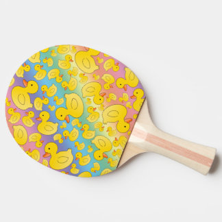 Cute rainbow rubber ducks Ping-Pong paddle