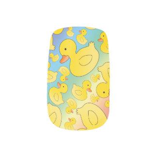 Cute rainbow rubber ducks minx ® nail wraps