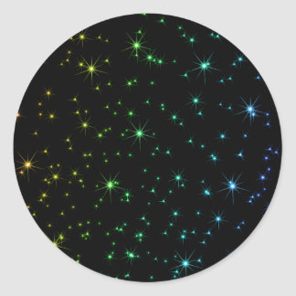 Cute Rainbow Star Colourful Stars 12320 Classic Round Sticker