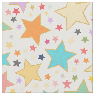 Cute Rainbow Stars Custom Pattern Fabric