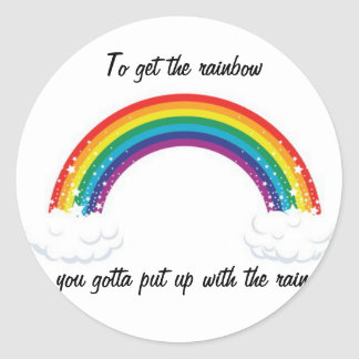 Cute Rainbow Sticker! Classic Round Sticker