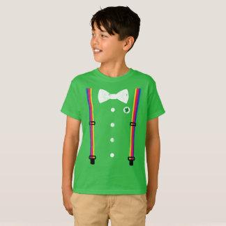 Cute Rainbow Suspender Leprechaun St Patricks Day T-Shirt