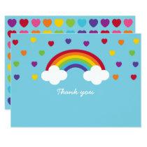 Cute Rainbow Thank You Card