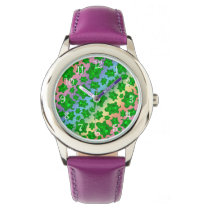 Cute rainbow turtle pattern watch
