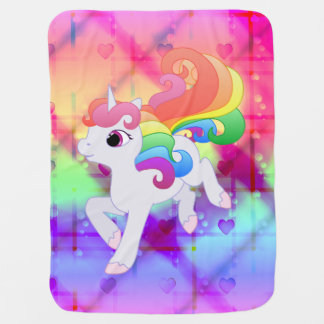 Cute Rainbow Unicorn Blanket