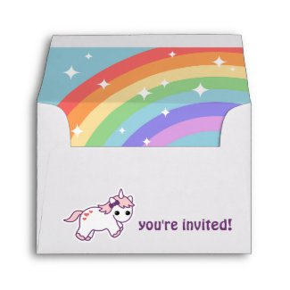 Cute Rainbow Unicorn Envelope