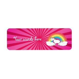 Cute rainbow unicorn label