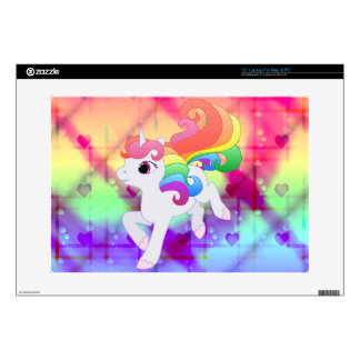 Cute Rainbow Unicorn Laptop Skin