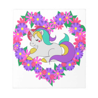 cute rainbow unicorn notepad