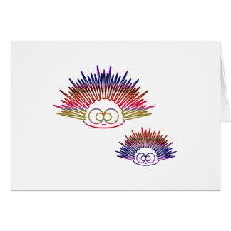 Cute Rainbow Urchins Card