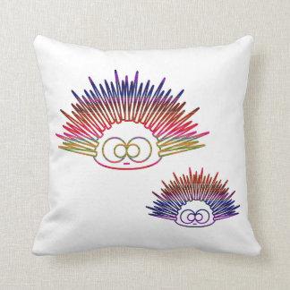 Cute Rainbow Urchins Throw Pillow