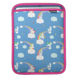 Cute Rainbows and Unicorns iPad Sleeve