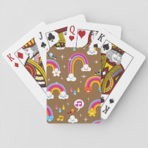 cute rainbows pattern playing cards