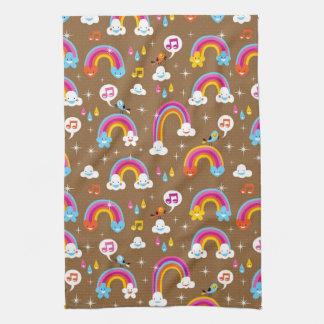 cute rainbows pattern towel