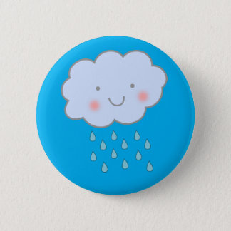 CUTE! rainy cloud button