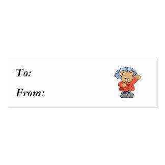 Cute Rainy Day Bear Business Card