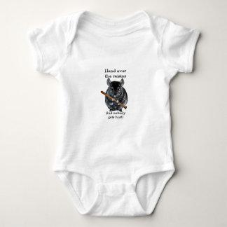 Cute Raisin Mean Chinchilla Baby Bodysuit