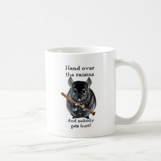 Cute Raisin Mean Chinchilla Classic White Coffee Mug