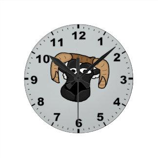 Cute ram design wall clocks