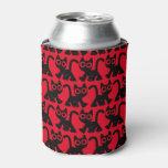 Cute Rambling Cartoon Cat Can/Bottle Cooler