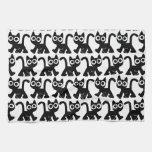 Cute Rambling Cartoon Cat Kitchen Towel