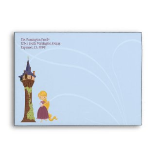 Cute rapunzel tower customizable address envelope envelope