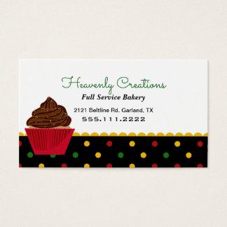 Cute Rasta Polka Dot Bakery Business Card