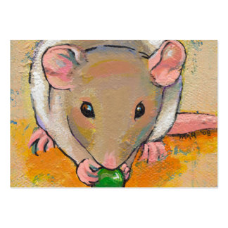 Cute rat adorable pet fun art Cuteness with a Pea Business Card Templates