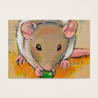 Cute rat adorable pet fun art Cuteness with a Pea Business Card