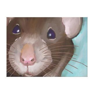Cute Rat Canvas Art