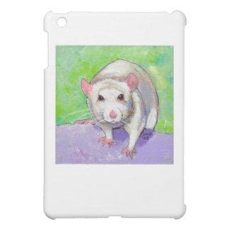 Cute rat fun colorful pet animal art white rats cover for the iPad mini