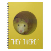Cute Rat in a Hole Funny Animal Notebook