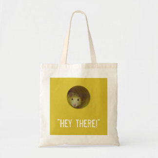 Cute Rat in Hole Funny Animal Tote Bag