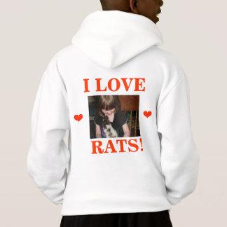 CUTE RAT KIDS HOODIE