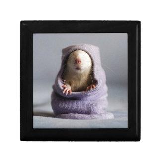 cute rat peek a boo keepsake box