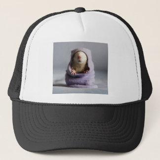 cute rat peek a boo trucker hat