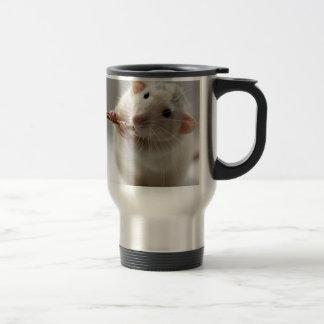 Cute rat playing flute 15 oz stainless steel travel mug