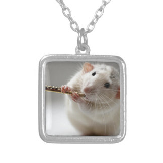 Cute rat playing flute necklaces